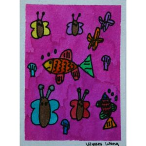 Butterflies and Fish Painting