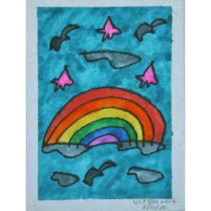 Blue-Sky-Rainbow-Painting