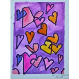 Fluttering-Hearts-Painting