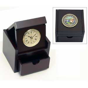 State-Seal-Clock-With-Drawer