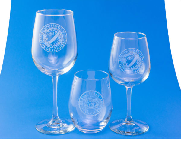 wine glasses with assembly seal