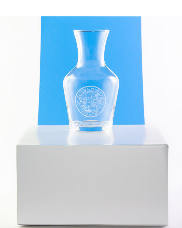 Glass Carafe with Great Seal of California