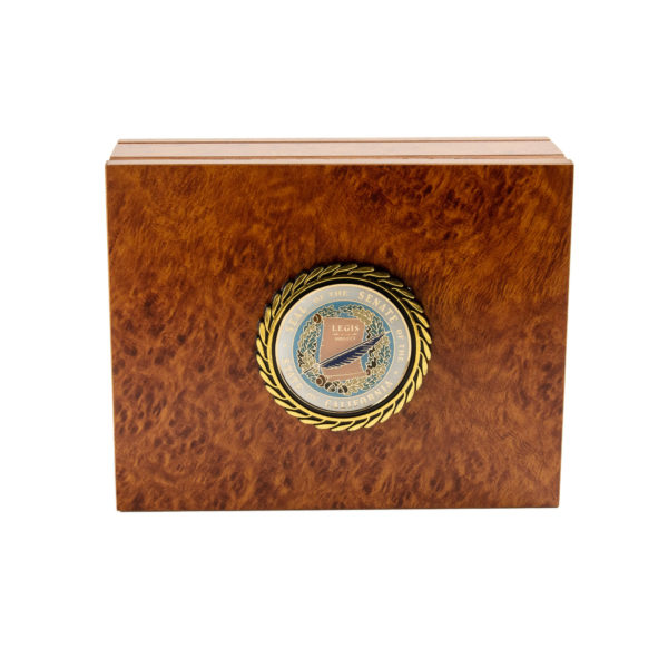 Medium Burlwood Keepsake Box with Senate Seal
