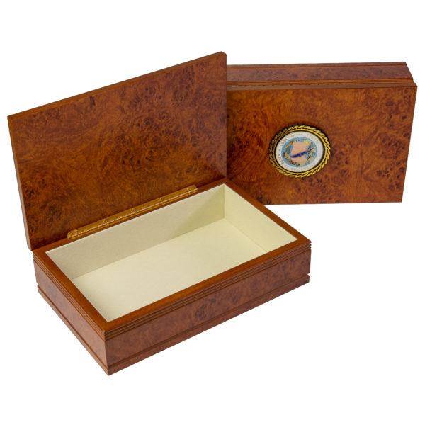 Large Burlwood Keepsake Box with Senate Seal